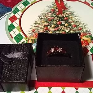 Ring, Red Stone, Size 8, 10k Gold